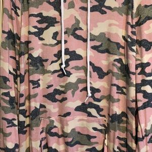 PINK lounge camo hooded tunic.